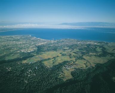 arial picture of UCSC and surroundings