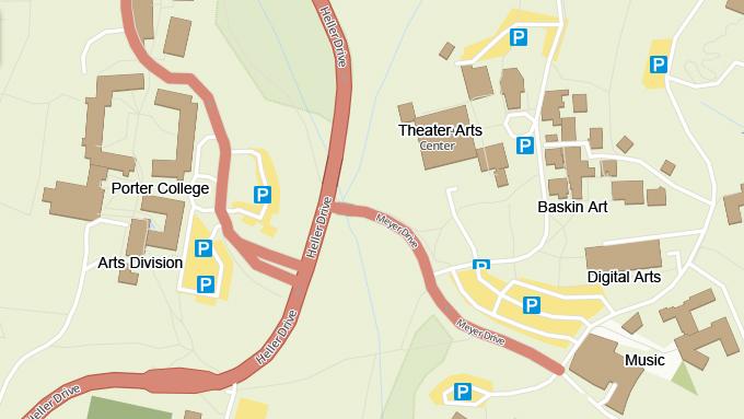 Directions Parking Artsucscedu - Google maps kresgie college us santa cruz