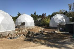 "The Harrisons ""Future Garden"" during installation"