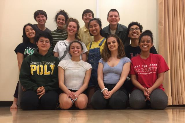 Group of UCSC dance students