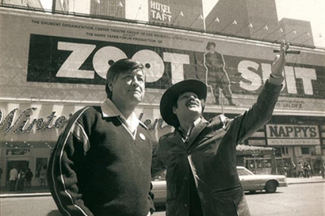 Cesar Chavez and Luis Valdez