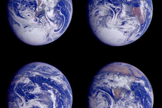 (Earth images courtesy of NASA)