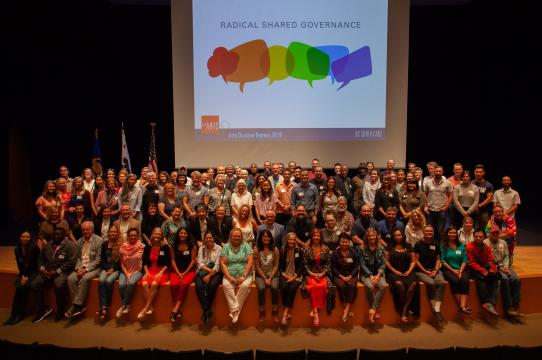 Division of the Arts faculty and staff at the 2019 retreat
