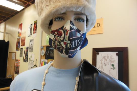 A completed mask at the UCSC Costume Shop
