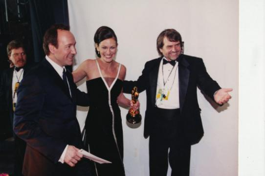 Dency Nelson with Kevin Spacey & Julia Roberts