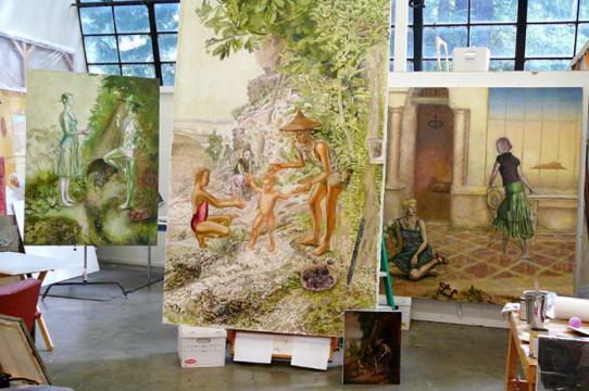 Frank Galuszka, Mannerist Paintings