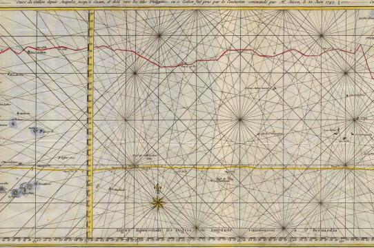R.W. Seale, Carte de la Mer du Sud ou Mer Pacifique, 1748