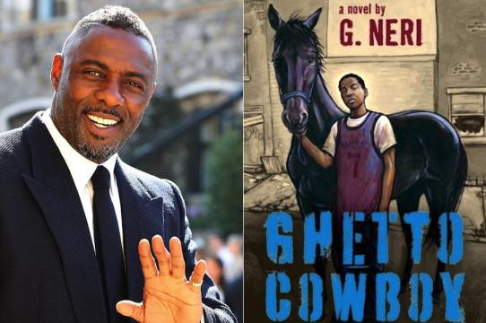 Left: Actor Idris Elba (Gareth Fuller/pool photo via AP). Right: Ghetto Cowboy cover