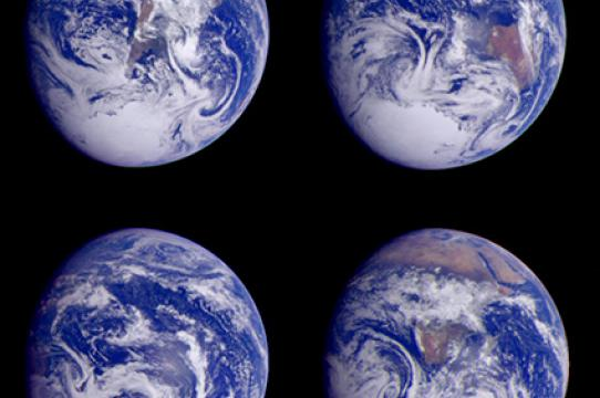 (Earth images courtesy of NASA)