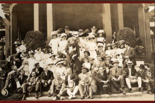Opening party at Pino Alto, June 11, 1911